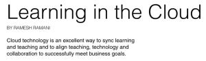 """""""Learning in the Cloud"""" - Download the full CLO Magazine article by Expertus CEO Ramesh Ramani"""