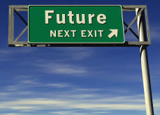 Sign pointing to the future of learning technology