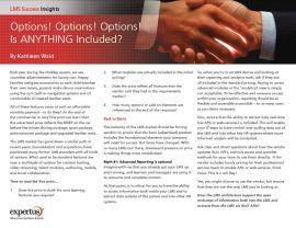 Cover - Expertus LMS Insights Bulletin: Options, Options, Is Anything Included in the Price?