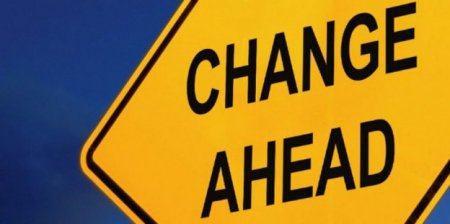 Learning and development technologies change ahead sign