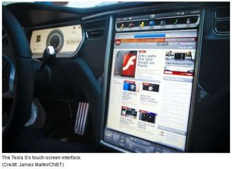 Tesla S touchscreen dashboard Expertus