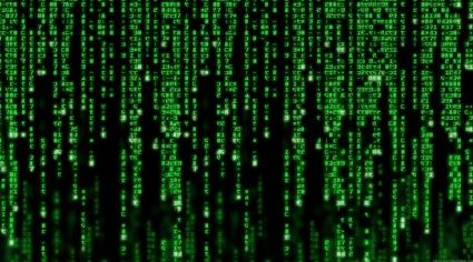 "Digital Rain from the movie, ""The Matrix"" - courtesy Warner Brothers Pictures. Learning technology."
