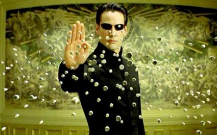 "Neo from ""The Matrix"" - courtesy Warner Brothers Pictures. Software training."