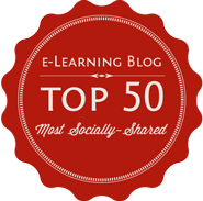 Badge CMOE - Top 50 Most Socially Shared E-Learning Blogs