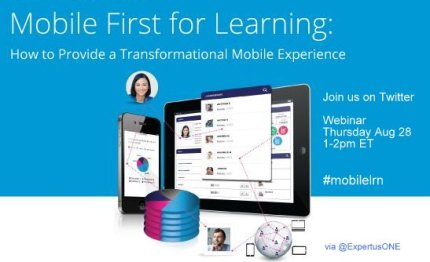 "Click to replay this ""Mobile First"" Learning webinar"