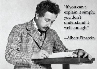Einstein on why simplicity is important in learning