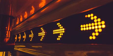 LMS & Salesforce integration arrows
